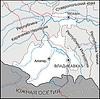 Karte von Nordossetien - Alanien