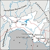 Karte des Oblasts Amur