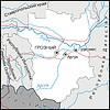 Karte von Tschetschenien