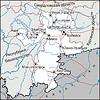 Karte des Oblasts Tscheljabinsk