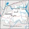 Karte von Ivanovo Oblast