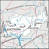 Karte von Kostroma Oblast