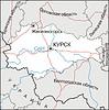 Karte von Kursk Oblast