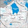 Leningrad oblast map | Stock Vector Graphics