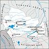 Karte von Oblast Nowosibirsk