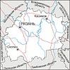 Karte von Oblast Rjasan