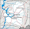 Karte von Samara Oblast