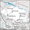 Karte von Krai Stawropol