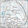Karte von Oblast Swerdlowsk