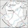 Karte des Oblasts Tambow