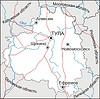 Karte von Oblast Tula