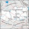 Karte von Oblast Twer