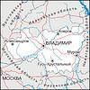 Karte von Vladimir Oblast