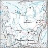 Karte von Jakutien