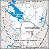 Karte von Oblast Jaroslawl