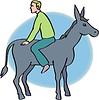 Mann und Esel