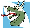 grüner Drachenkopf