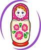Vector clipart: matryoshka