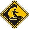 Zeichen für Surfen