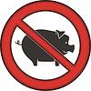 Zeichen Schweine verbotten