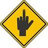Zeichen mit Hand und Finger nach oben