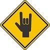 Zeichen Hand mit den Fingern