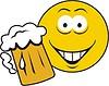Векторный клипарт: смайлик-пиволюб