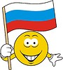 Smiley mit russischer Flagge