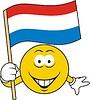 Smiley mit niederländischer Flagge