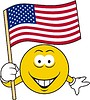 Smiley mit US-Flagge