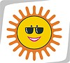 Vector clipart: sun with spectacles