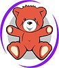 Vector clipart: soft toy for kids