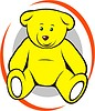 Vector clipart: yellow bear toy
