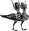 Chinesischer mythische zweiköpfigen Vogel
