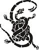 Chinesische nördliche mythische Schildkröte und Schlange