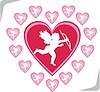 Cupidos und Herzen