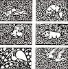 Muster mit Tieren im Jugendstil