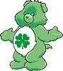 grüner Teddybär Spielzeug mit Quadrifolium