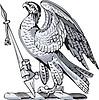 Vector clipart: crest with an eagle and lance