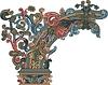 dekorative mittelalterliche Ecke
