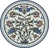 rundes orientalische Blumenornament