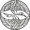Japanisches Kranich Design