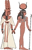Hathor and Amun-Ra