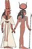 Hathor und Amun-Ra