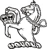 Helmzier - Pferd mit einer Krone