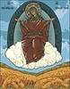 orthodoxe Ikone der Jungfrau Maria