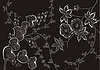 Japanisches florale Ornament