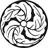 Japanisches Blume-Mon