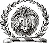 lion wreath crest
