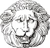 lion head engraving
